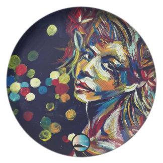 "UrbnCape ""Jezebel"" Art Print on Melamine Plates"