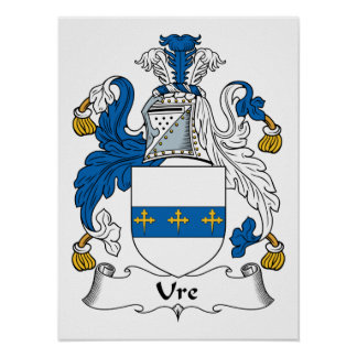 Ure Family Crest Posters