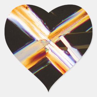Urea under the microscope heart sticker