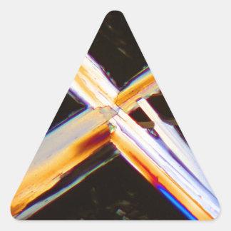 Urea under the microscope triangle sticker