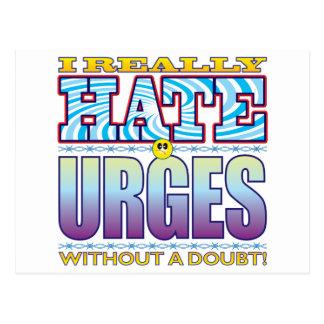 Urges Hate Face Postcard
