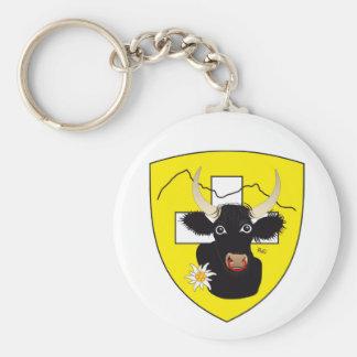 Uri - Switzerland - Suisse - Svizzera key supporte Basic Round Button Key Ring