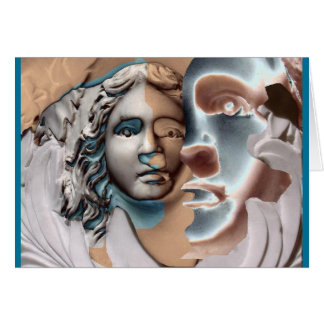 Urn Face Blue Copper Card