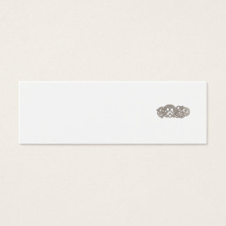 Urnes Snake Extended Stomach Retro Mini Business Card