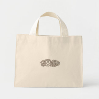 Urnes Snake Extended Stomach Retro Mini Tote Bag