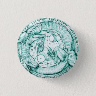 uroboro alquimico 3 cm round badge