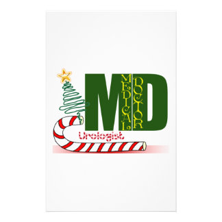 Urologist MERRY CHRISTMAS DOCTOR PHYSICIAN Personalized Stationery