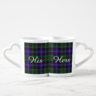 Urquart clan Plaid Scottish tartan Lovers Mugs