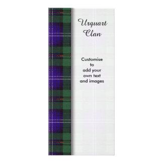 Urquart clan Plaid Scottish tartan Rack Card Template
