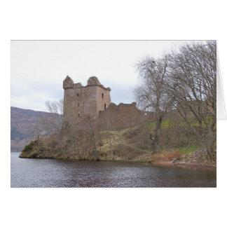 Urquhart Castle, Loch Ness, Scotland Card