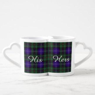 Urquhart clan Plaid Scottish tartan Lovers Mug Set