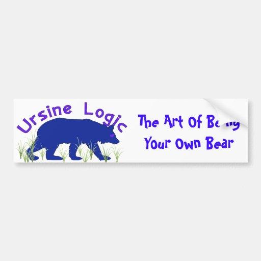 Ursine Logic Swag Logo Bumper Sticker