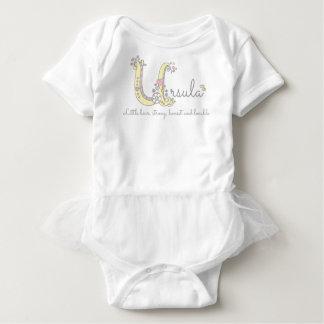 Ursula girls name meaning U monogram letter Baby Bodysuit