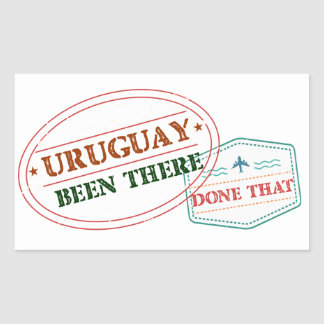 Uruguay Been There Done That Rectangular Sticker
