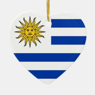 Uruguay Ceramic Heart Decoration