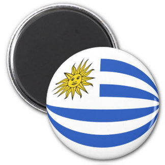 Uruguay Fisheye Flag Magnet