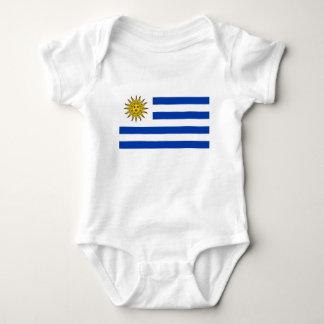 Uruguay flag baby bodysuit