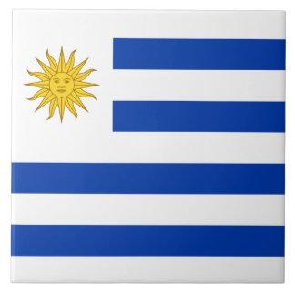Uruguay Flag Ceramic Tile