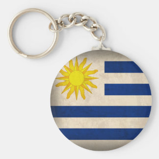 Uruguay Flag Distressed Keychain