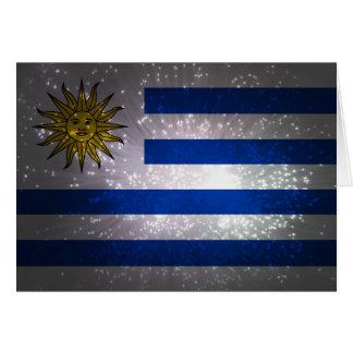 Uruguay Flag Firework Note Card