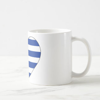Uruguay Flag Heart Coffee Mug