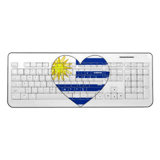 Uruguay Flag Heart Wireless Keyboard