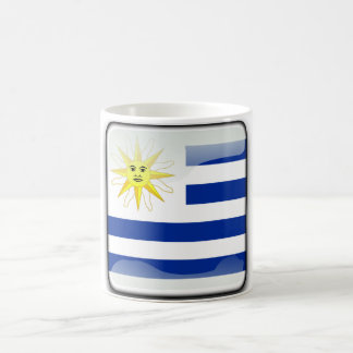 Uruguay glossy flag coffee mug