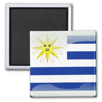 Uruguay glossy flag magnet