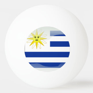 Uruguay glossy flag ping pong ball