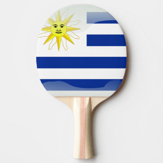 Uruguay glossy flag ping pong paddle