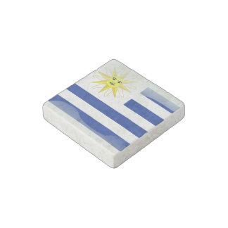 Uruguay glossy flag stone magnet