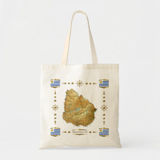 Uruguay Map + Flags Bag