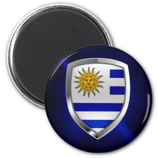 Uruguay Metallic Emblem Magnet