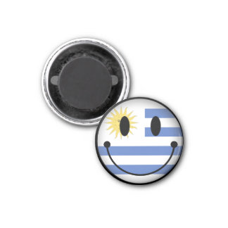 Uruguay Smiley Magnet