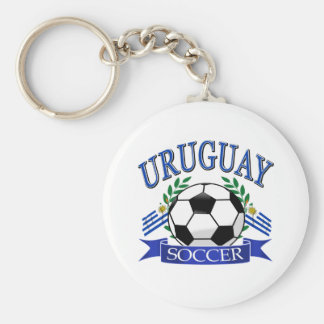 Uruguay soccer ball designs keychains