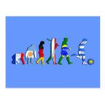 Uruguay soccer football Evolution futboll gifts Post Cards