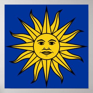 """Uruguay """"Sol de Mayo"""" Poster"""