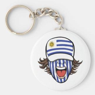 Uruguay sports fan keychains