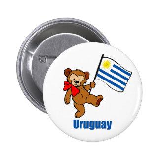 Uruguay Teddy Bear Button