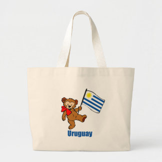 Uruguay Teddy Bear Large Tote Bag