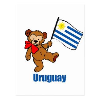 Uruguay Teddy Bear Postcard