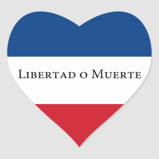 Uruguay/Uruguayan 33 Flag. Libertad Muerte Heart Sticker