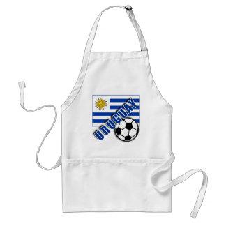 URUGUAY World Soccer Fan Tshirts Standard Apron