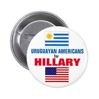 Uruguayan Americans for Hillary 2016 6 Cm Round Badge