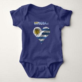 Uruguayan flag baby bodysuit
