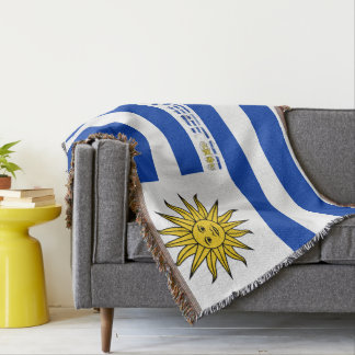 Uruguayan flag throw blanket