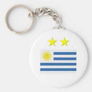 Uruguayan Footie Basic Round Button Key Ring