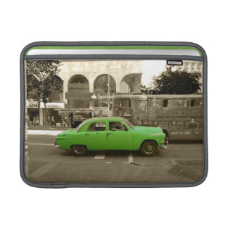 Uruguayan old green car MacBook sleeve