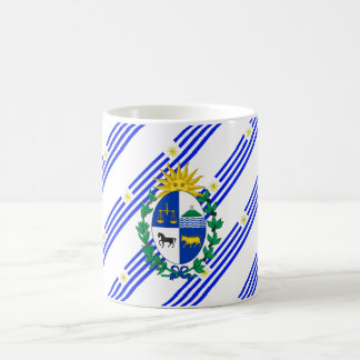 Uruguayan stripes flag coffee mug