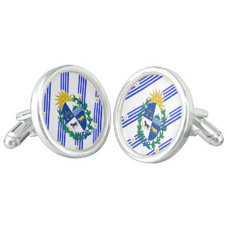 Uruguayan stripes flag cuff links
